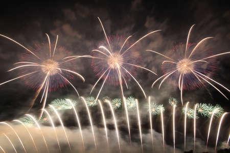 2018 Akagawa Fireworks Festival 写真素材 - 155909036