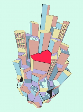 everyone love his or her own city Illustration