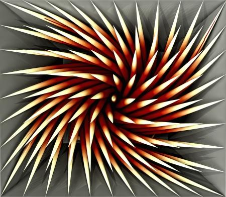 wonderful three dimensional orange lighted spiky swirl shaded  shape as tile pattern backdrop Stock Photo - 15503296