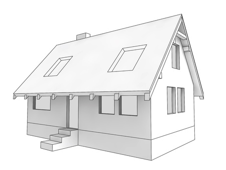 housing project: isolated diagram icon of new private house project illustration