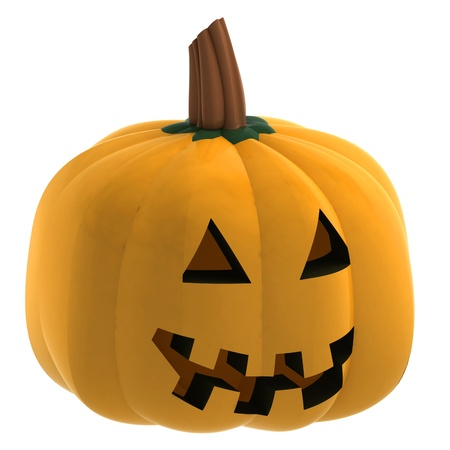 gourds: isometric isolated pumpkin halloween scary face render illustration