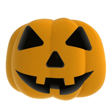 isolated autumn horror pumpkin smilling render shaded illustration Stock Illustration - 15708654