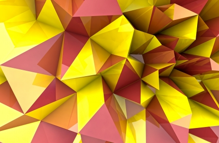 abstract autumn triangular three dimensional shape background render illustration illustration