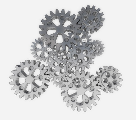 group of metallic cogwheels spare parts background illustration illustration
