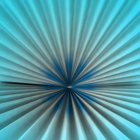 Radial abstract symmetric blue colored shape background rendering backdrop photo