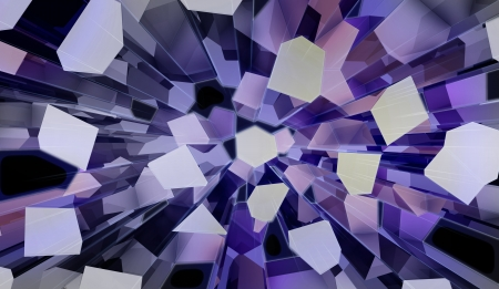 wonderful three dimensional voronoi blue prismatic futuristic shape top view perspective backdrop Stock Photo - 15726518