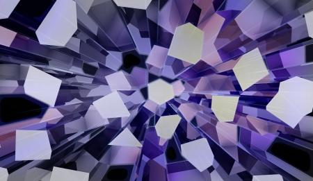 wonderful three dimensional voronoi blue prismatic futuristic shape top view perspective backdrop Stock Photo - 15726518
