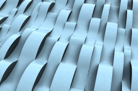 alighted: perspective wave blue alighted abstract cool surface shapecard background illustration Stock Photo