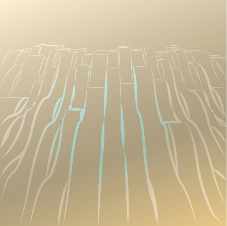 alighted: abstract wavy lines brown shaded postcard background  template illustration or backdrop Stock Photo