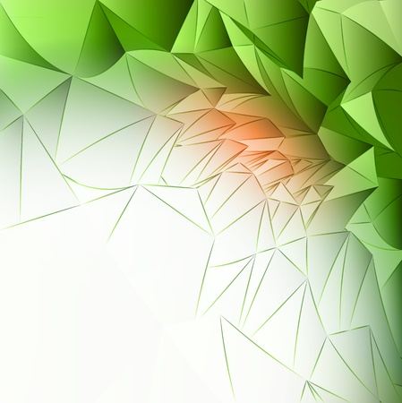abstract floral blossom triangular wall structure template  illustration or backdrop Stock Illustration - 15908736