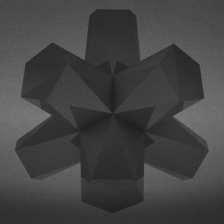 alighted: triangular face abstract shape black and white background