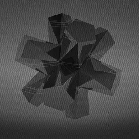 alighted: triangle face  abstract shape black and white background