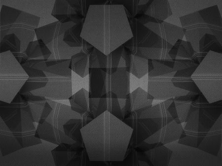 alighted: triangulated abstract shape black and white composition background Stock Photo