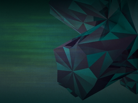 dark green colored triangulated abstract shape background photo