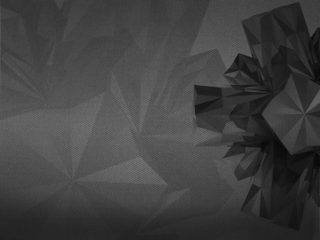 alighted: asymmetric triangulated abstract shape black and white background