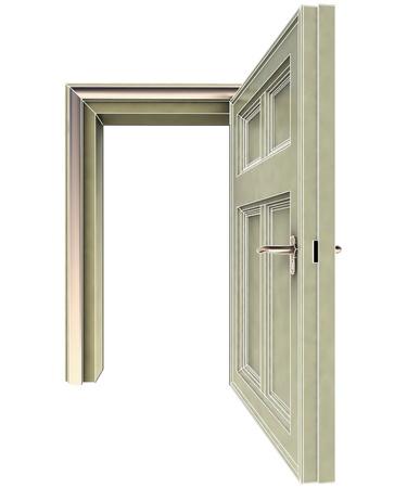 isolated open doorway concept illustration illustration