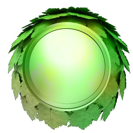 isolated green maple treetop sphere icon template concept illustration Stock Illustration - 15936389