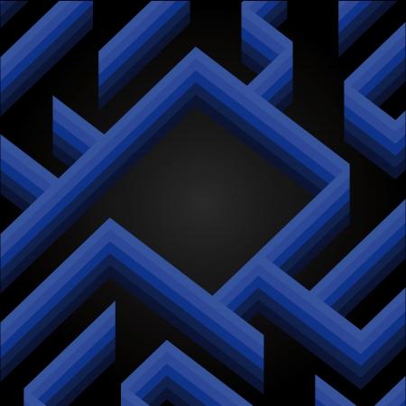 blue shaded labyrinth wall new year card wish vector Stock Vector - 16157202
