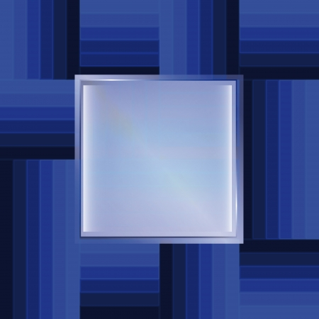 blue line abstract template square frame vector  Stock Vector - 16157220