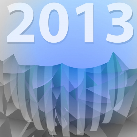 new year crystal blue card with striped sphere vector Stock Vector - 16157616