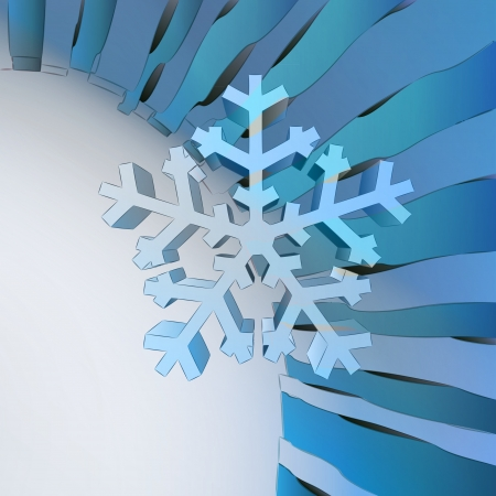 blue wavy geometric template with center snowflake vector Stock Vector - 16157684