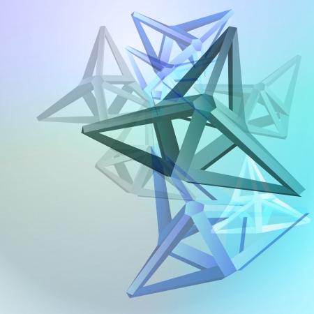 triangular shape cluster blue vector background Stock Vector - 16157628