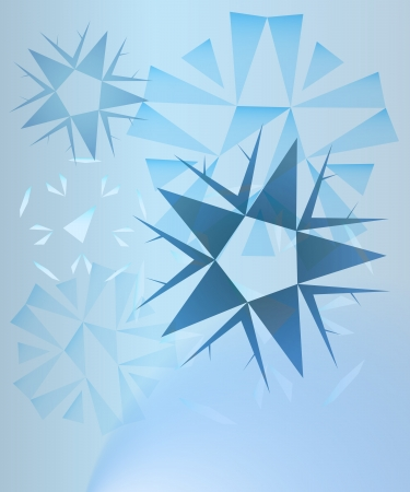 abstract blue crystals card background vector Stock Vector - 16157215