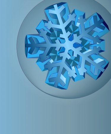 dark blue card template with blue snowflake in corner bubble vector Vector