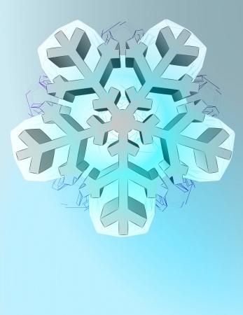 pentagonal: abstract winter pentagonal star snowflake shape vector template