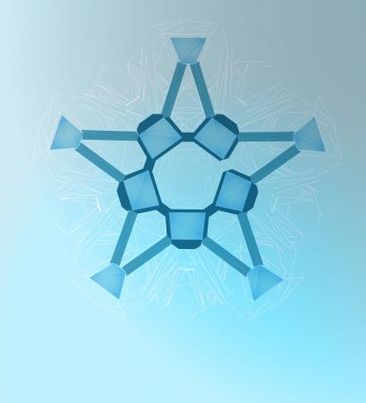 pentagonal: abstract pentagonal winter star line art vector template