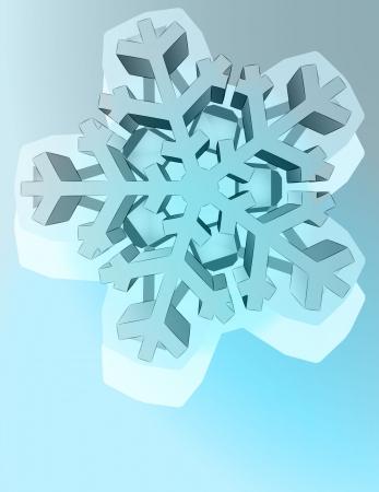 crystalline: abstract pentagonal winter snowflake star vector template