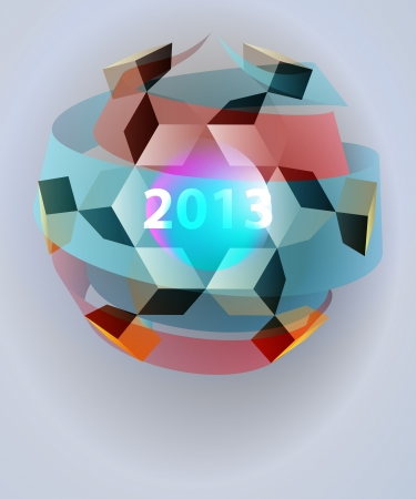 dimensional magic lighting sphere blizzard card vector template Vector