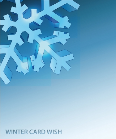 snowflake corner detail blue winter card vector template Stock Vector - 16157619