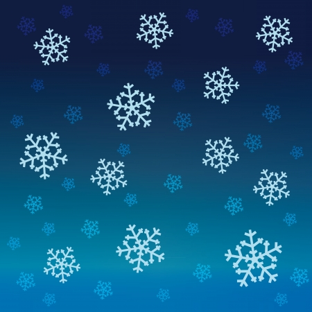 gradient blue snow falling vector pattern Stock Vector - 16157624
