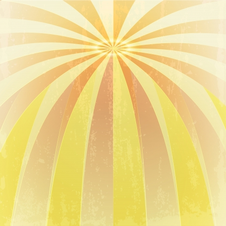 orange yellow bended waves to center point grunge vector  Vector