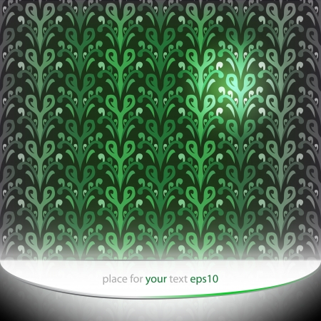 ornamental green floral pattern motive background template Stock Vector - 16231185