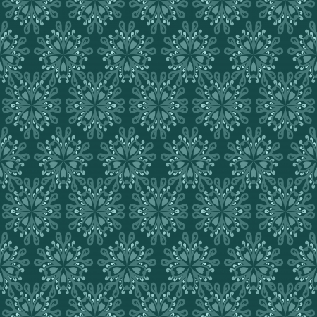 secession: green floral mosaic secession lighted pattern motive  Illustration