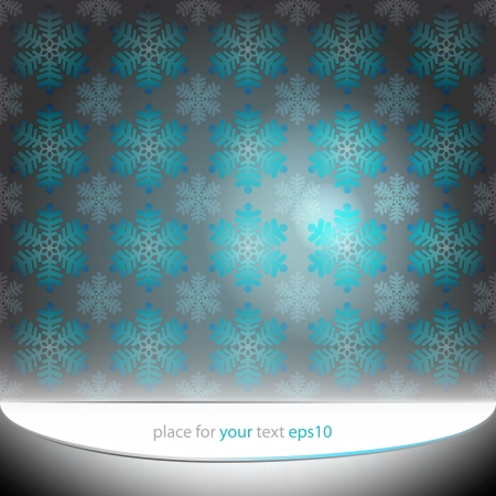 alighted blue snowflakes motive vector template Vector