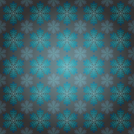 alighted: alighted blue snowflakes motive vector wrap paper illustration