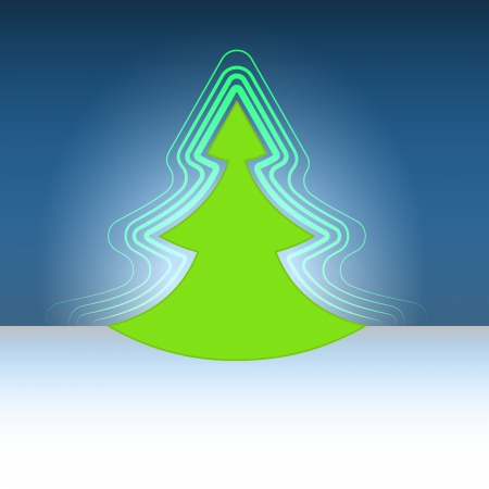 modern shape christmas green tree flare vector template Stock Vector - 16400549