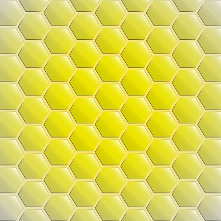 center gold yellow alighted honeycomb background Vector