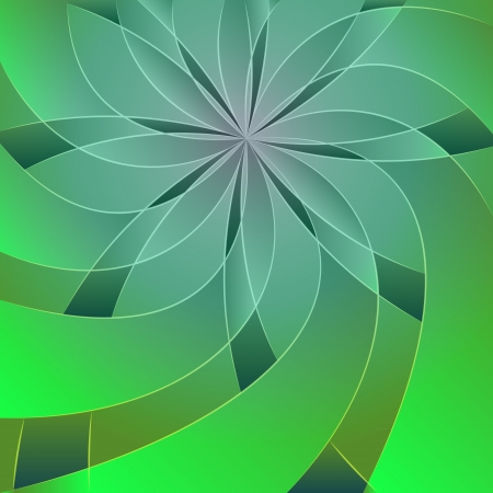 floral symmetric blue green blossom shape Vector