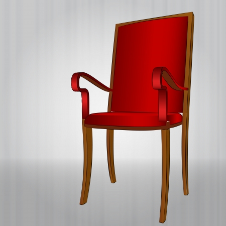comfortable red armchair  perspective view Vector