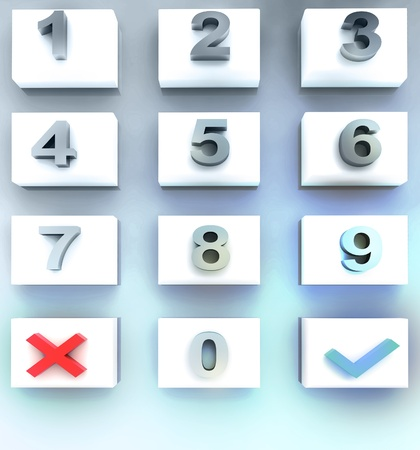 validate: blue lighted dial numbers screen illustration