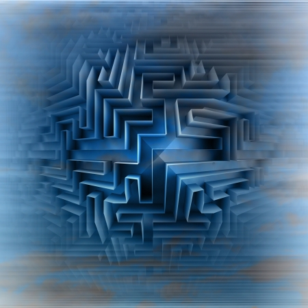 blue three dimensional network maze motion blur illustration illustration