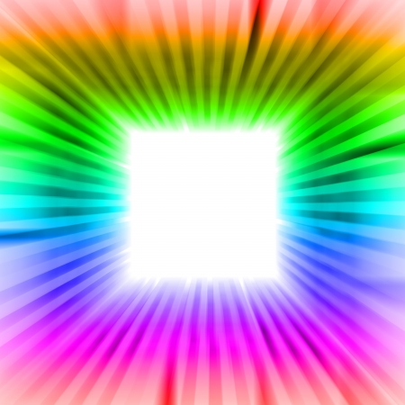 square blank editable sguare with rainbow beams illustration Stock Illustration - 17369871
