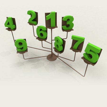 conceptual easel with green numbers illustration illustration