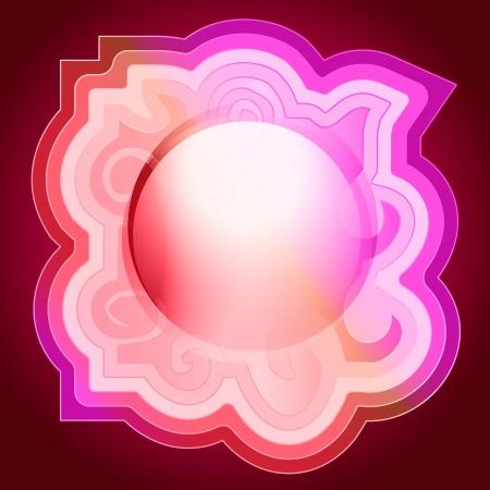 lovely decorated swirl editable circle illustration Stock Vector - 17911060