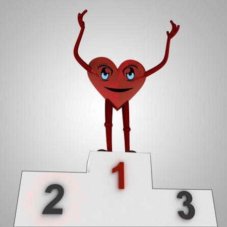 heart disease: heart figure wins against disease illustration