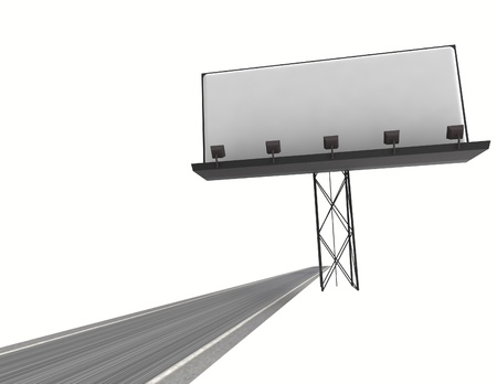 speedway: speedway with billboard blank isolated on white illustration